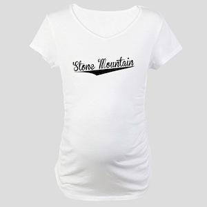 Stone Mountain, Retro, Maternity T-Shirt