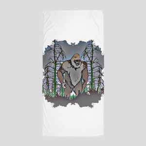 Sasquatch in timber Beach Towel