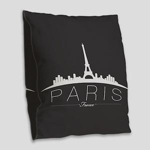 Paris Burlap Throw Pillow