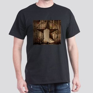 cowboy boots western country barn wood T-Shirt