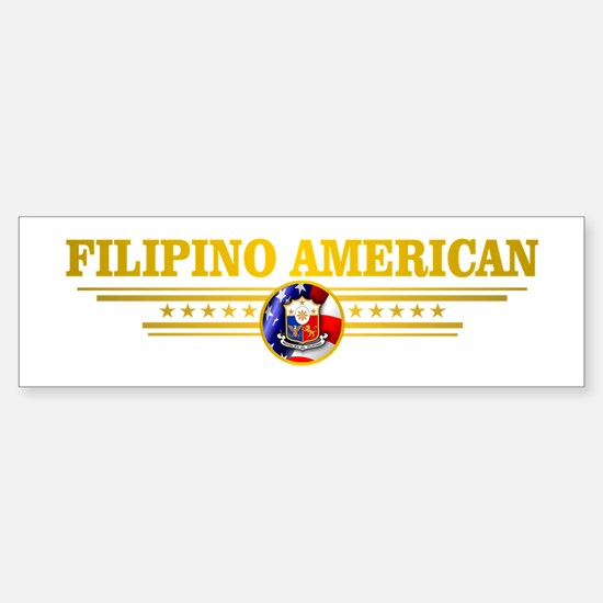 Filipino-American Bumper Car Car Sticker