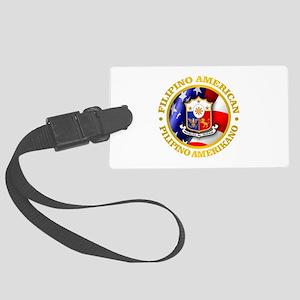 Filipino-American Luggage Tag