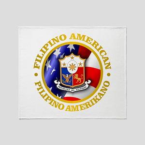 Filipino-American Throw Blanket