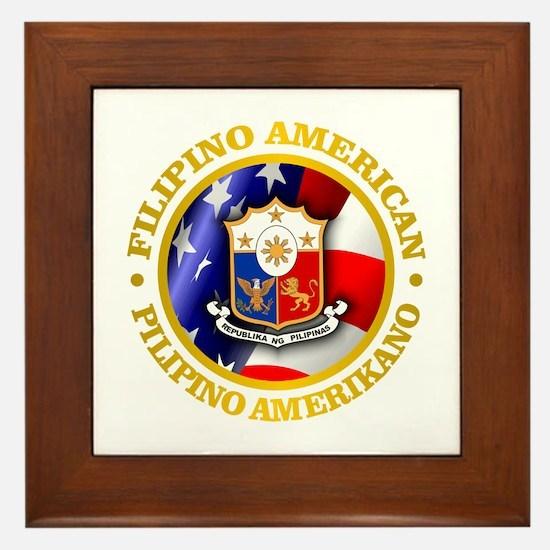 Filipino-American Framed Tile