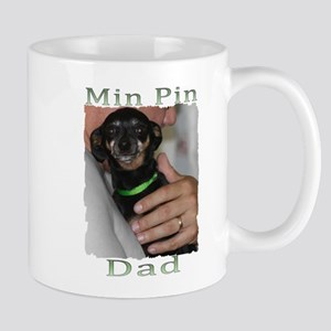 Min Pin Dad Mugs