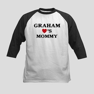 Graham loves mommy Kids Baseball Jersey