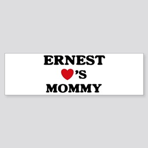 Ernest loves mommy Bumper Sticker