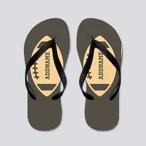 Custom Name Football Flip Flops