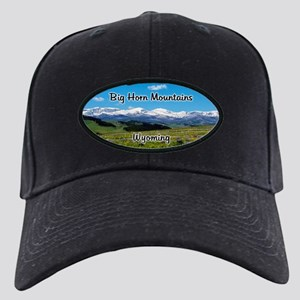 Panoramic Big Horn Mountains Black Cap with Patch