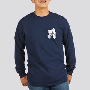 Pocket Eski Long Sleeve Dark T-Shirt
