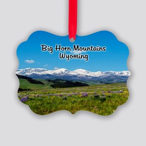 Panoramic Big Horn Mountains Picture Ornament