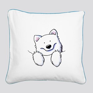 Pocket Eski Square Canvas Pillow