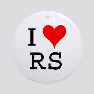 I Love RS Ornament (Round)