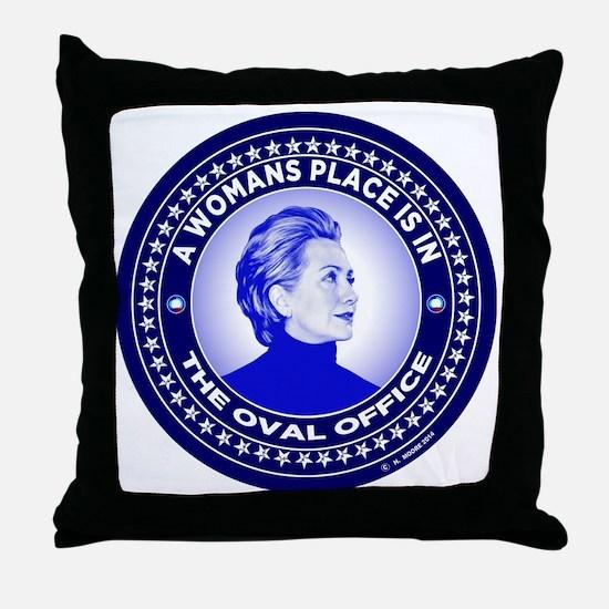 Cute Hillary 2016 Throw Pillow