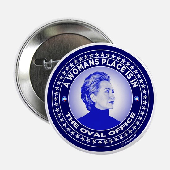 "Funny Hillary 2016 2.25"" Button"