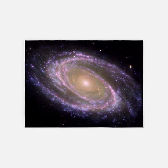 Spiral galaxy NASA image 5'x7'Area Rug