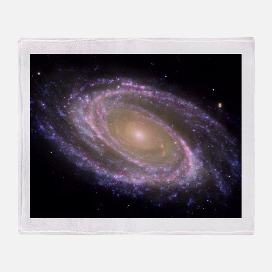 Spiral galaxy NASA image Throw Blanket