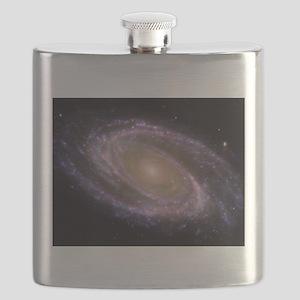 Spiral galaxy NASA image Flask