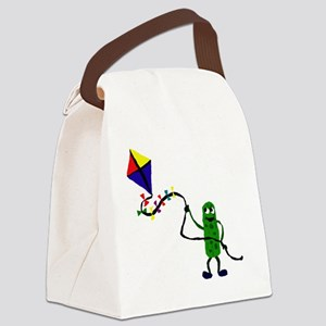 Pickle Flying Kite Canvas Lunch Bag