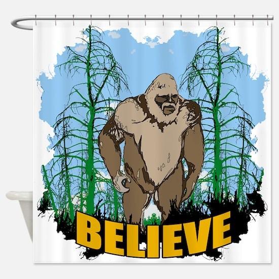 Believe in Bigfoot 3 Shower Curtain