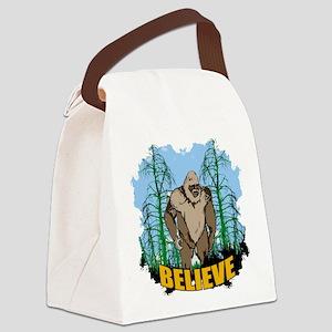 Believe in Bigfoot 3 Canvas Lunch Bag
