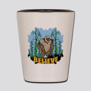 Believe in Bigfoot 3 Shot Glass