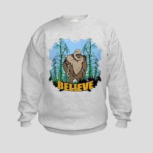 Believe in Bigfoot 3 Kids Sweatshirt