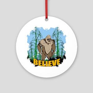 Believe in Bigfoot 3 Ornament (Round)