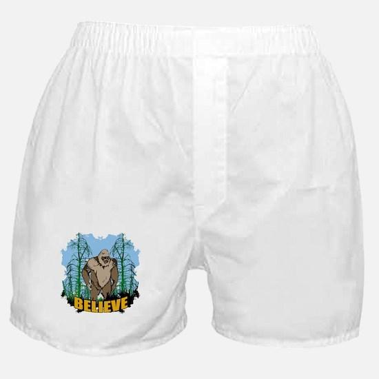 Believe in Bigfoot 3 Boxer Shorts