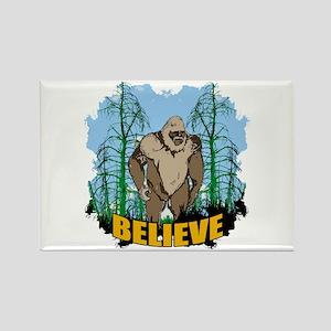 Believe in Bigfoot 3 Rectangle Magnet