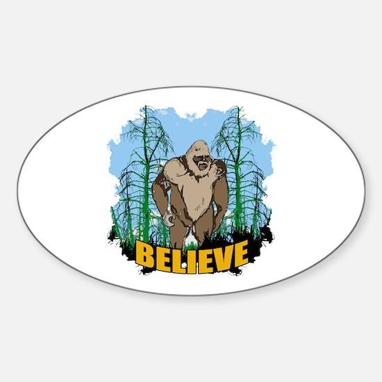 Believe in Bigfoot 3 Sticker (Oval)