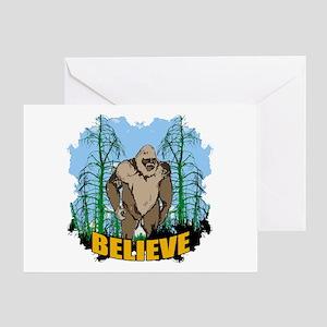 Believe in Bigfoot 3 Greeting Card