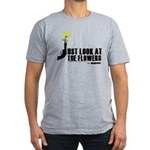 Look At The Flowers Men's Fitted T-Shirt