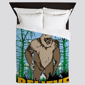 Believe in Bigfoot 3 Queen Duvet