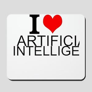 I Love Artificial Intelligence Mousepad