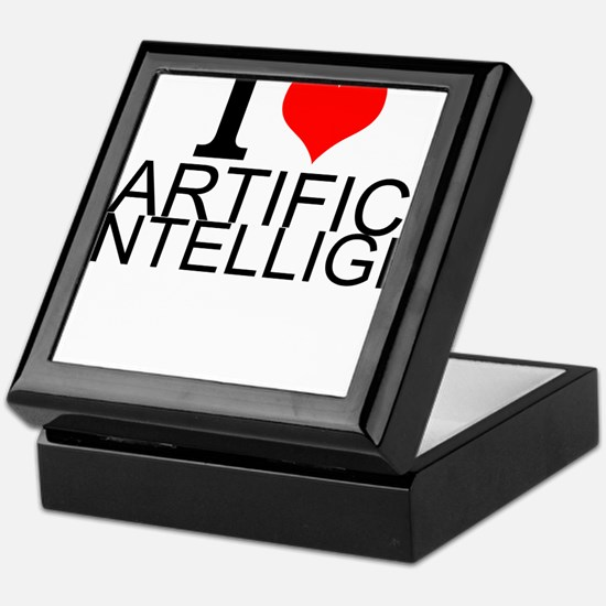 I Love Artificial Intelligence Keepsake Box