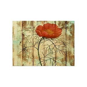 Poppy flower area rugs cafepress mightylinksfo