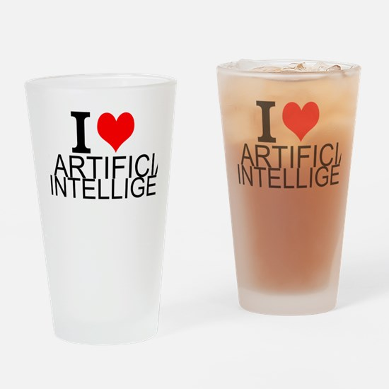 I Love Artificial Intelligence Drinking Glass