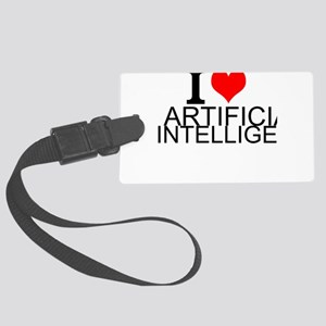 I Love Artificial Intelligence Luggage Tag