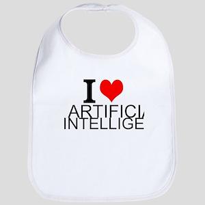 I Love Artificial Intelligence Baby Bib