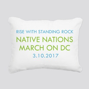 RISE WITH STANDING ROCK Rectangular Canvas Pillow