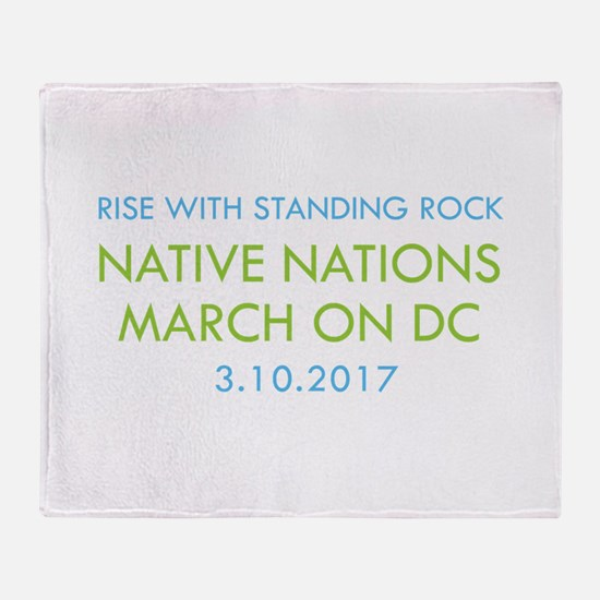 RISE WITH STANDING ROCK Throw Blanket