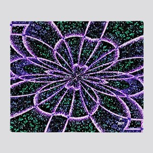 Lavender Rose Throw Blanket