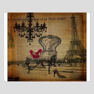 modern chandelier paris eiffel tower Small Poster