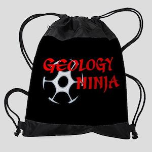 Geology Ninja Drawstring Bag