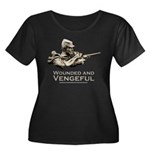 Vengeful Women's Plus Size Scoop Neck Dark T-Shirt