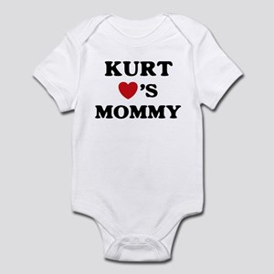 Kurt loves mommy Infant Bodysuit