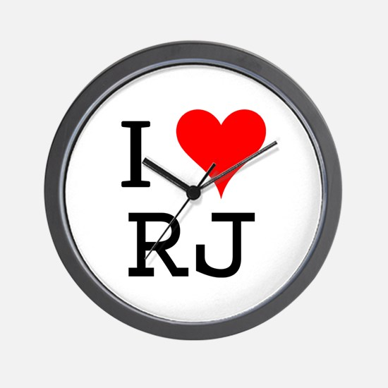 I Love RJ Wall Clock