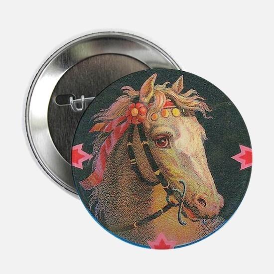 "vintage horse 2.25"" Button (10 pack)"