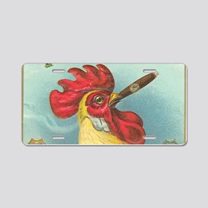 rooster Aluminum License Plate